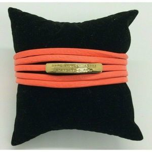 Marc Jacobs Coral Vivid Orange Toggle Bracelet $90